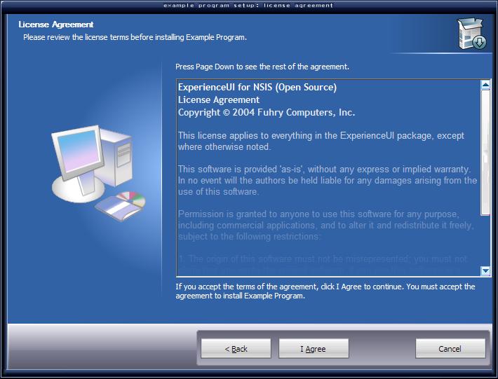 NSIS (Nullsoft Scriptable Install System) screenshot