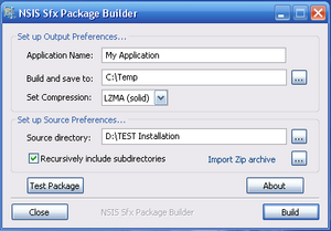 NSIS SFX Package Builder - NSIS